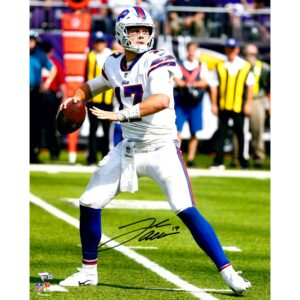 Autographed Buffalo Bills Josh Allen Fanatics Authentic 16″ x 20″ Throwing Photograph