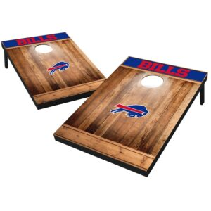 Buffalo Bills 2′ x 3′ Wood Design Cornhole Board Tailgate Toss Set