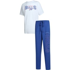 Buffalo Bills Concepts Sport Big & Tall Topic T-Shirt & Pants Sleep Set – Royal/White