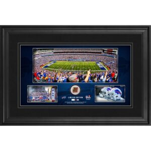Buffalo Bills Framed 10″ x 18″ Stadium Panoramic Collage with Game-Used Football