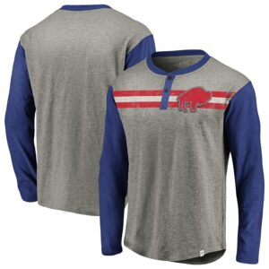 Buffalo Bills Big & Tall True Classics Henley Long Sleeve T-Shirt
