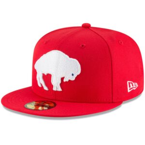 Buffalo Bills New Era Omaha Throwback 59FIFTY Fitted Hat – Red