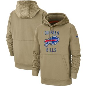 Buffalo Bills Nike 2019 Salute to Service Sideline Therma Pullover Hoodie – Tan