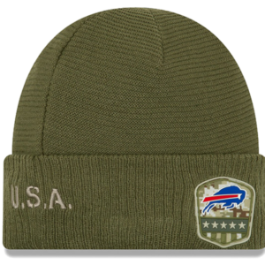 Buffalo Bills New Era 2019 Salute to Service Sideline Cuffed Knit Hat – Olive
