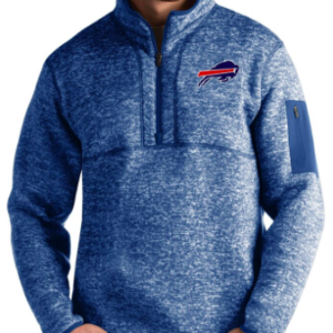 Buffalo Bills Antigua Fortune Quarter-Zip Pullover Jacket – Heather Royal