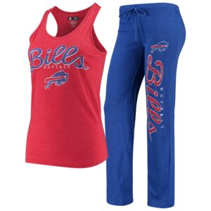 Women's Buffalo Bills Concepts Sport Red/Heathered Royal Topic Tank Top & Pants Sleep Set