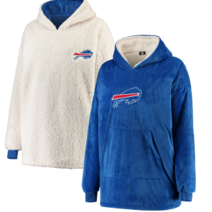 Buffalo Bills Reversible Sherpa Hoodeez – Royal/White